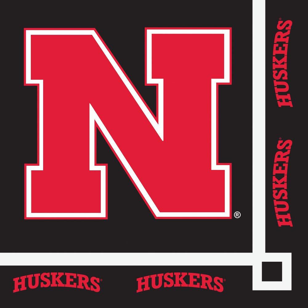 クラブパックの240 NCAA大学のネブラスカHuskers 2-ply使い捨てパーティー飲料ナプキン5