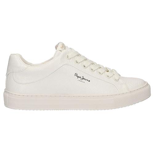 White Para Pls30852 Blancas Mujer JeansAdams Zapatillas Pepe KlJF1c