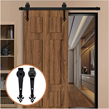 LWZH 8FT/244 cm Herraje para Puerta Corredera Kit de Accesorios para Puertas Correderas: Amazon.es: Bricolaje y herramientas