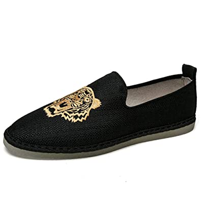 77416768be0a8 Amazon.com | Hy-C Men's Canvas Shoes Spring/Fall Loafers & Slip-ONS ...