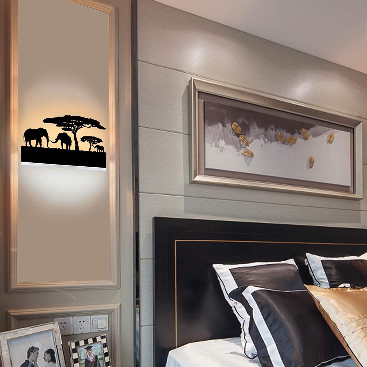 Kernorv Led Wall Sconce 18W Wall Sconce Lighting for Bedroom Living Room Hotel Bathroom Cafe
