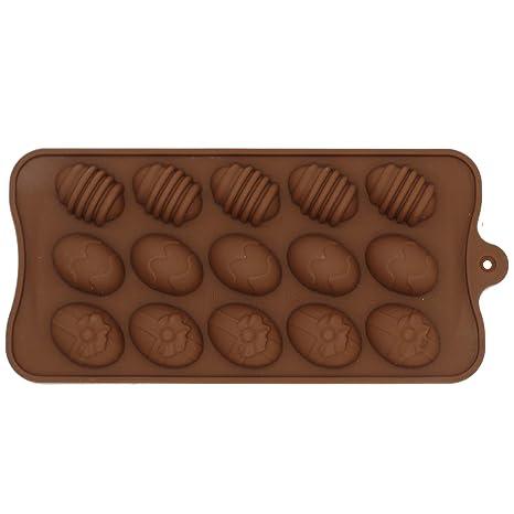 Molde de Silicona con Forma de 15 pequeño Huevos - Moldes para chocolate diseño de huevos