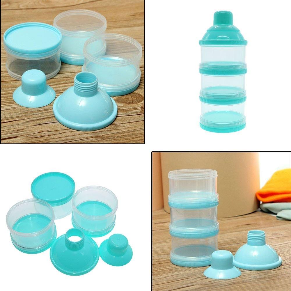 VANKER 3 capa botella de leche para infantil del bebé color azul