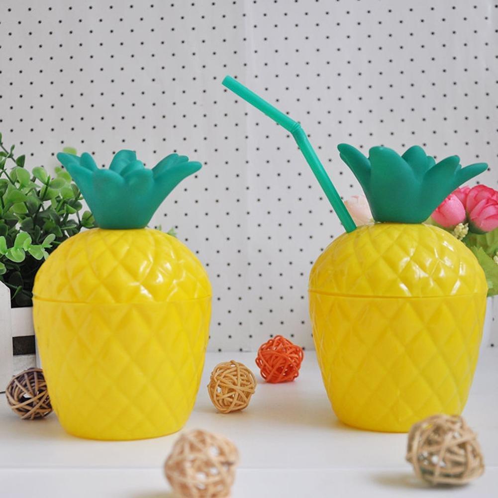 Juego De Vasos De Plastico De Pina De Coco Para Fiesta De Cumpleanos