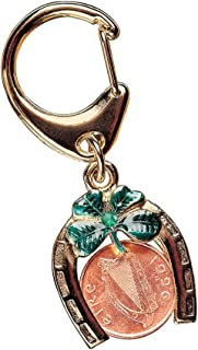 product image for Horseshoe Lotto Scratcher Coin Keychain with Irish Penny Coin Jewelry