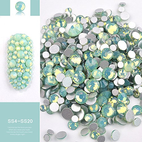 Mix Opal Crystal Nail Art Rhinestones 3d Charm Glass DIY Jewelry Sticker -