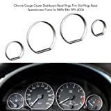 WonVon Gauge Dial Rings,4pcs Chrome Gauge Cluster