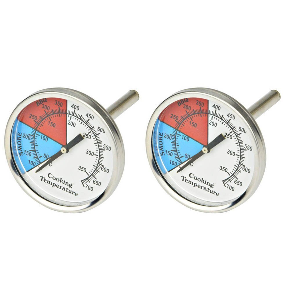 """Onlyfire Professional BBQ Charcoal Smoker Gas Grill Dia 3"""" Thermometer (2-Pack) Temperature Gauge,Set of 2"""