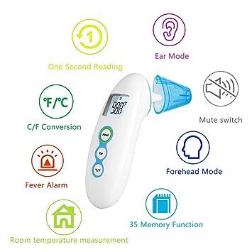 Amazon.com: Termómetro de oreja y frente termómetro ...