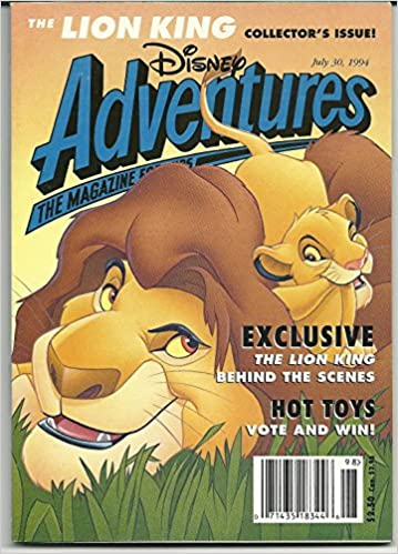 Disney Adventures The Lion King Collector S Issue July 30 1994 Volume 4 Number 10 Disney Adventures 4 Tommi Lewis Amazon Com Books