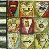 C.R. Gibson, Lisa Kaus Refillable Address Book, Whole Hearts (A1-8947)