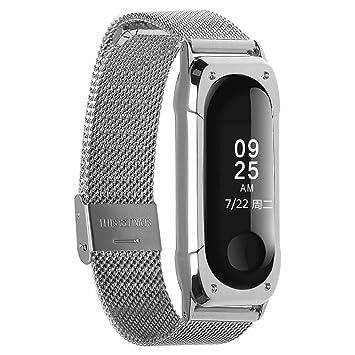 Bracelet métallique en acier inoxydable pour Xiaomi Mi Band 3