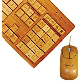 Impecca Full Bamboo Custom Carved Designer Keyboard and Mouse Combo (KBB501C)