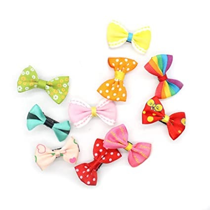 Bownot 10 Colors Baby Hairpins Hair Accessories Bow Hair Clips Hairpins