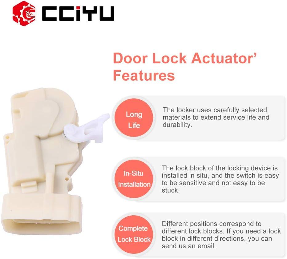 cciyu Door Lock Actuators Door Latch Front Right Fits for 2000-2005 Toyota RAV4 746-827