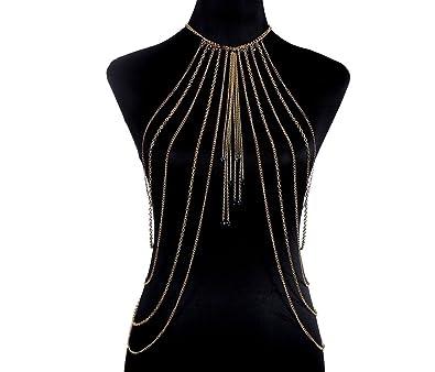 Mode Ö?bertrieben Sexy Simple Perle Anhänger Mehrschichtige Quasten Körperkette Körperschmuck
