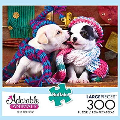 Buffalo Games Adorable Animals - Best Friends - 300 Large Piece Jigsaw Puzzle