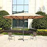 MYAL 14ft Patio Umbrella Double-Sided Patio Outdoor Umbrella Tan