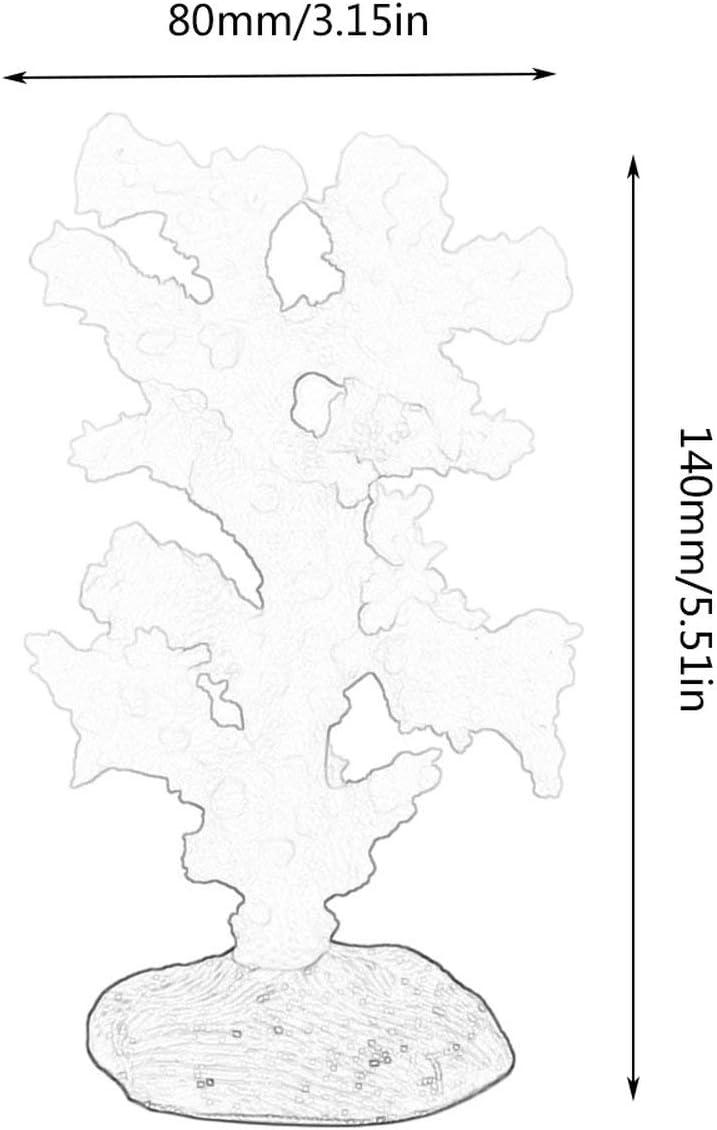 Gris Tree-on-Life Aquarium R/éservoir de Poissons Am/énagement Paysager Simulation Coral de Mer Oursin Ball Silice Algue Lumineux Fluorescent Simulation Coral Tree