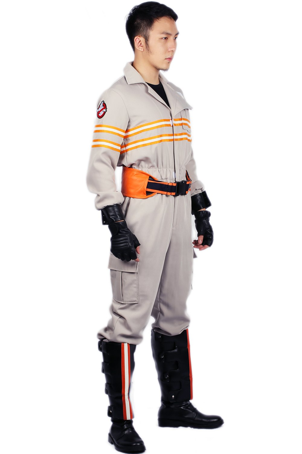 Ghostbusters Costume Deluxe Jumpsuit Embroidery Logo Cotton Halloween Cosplay Xcoser XXL