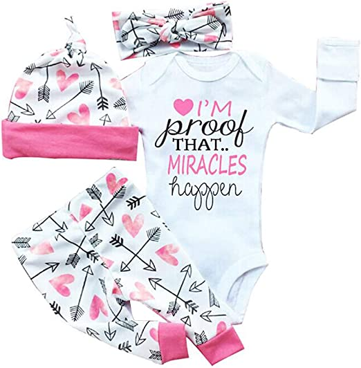 Newborn Baby Girls Wednesday Clothes Romper Bodysuit Headband Outfits Set