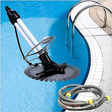 Inground Automatic Swimming Pool Vacuum Cleaner Hover Wall Climb W 33ft Hoses