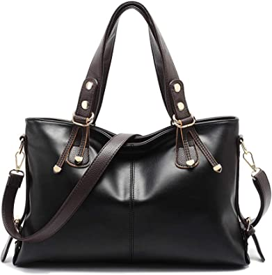 Color:Black,Blue,Pink,Brown, Classic Crossbody Shoulder Bag Handbags for Women Ladies Womens PU Leather Shoulder Crossbody Top Handle Handbags Tote Bag With Removable Strap Traveling Dating Daily Life