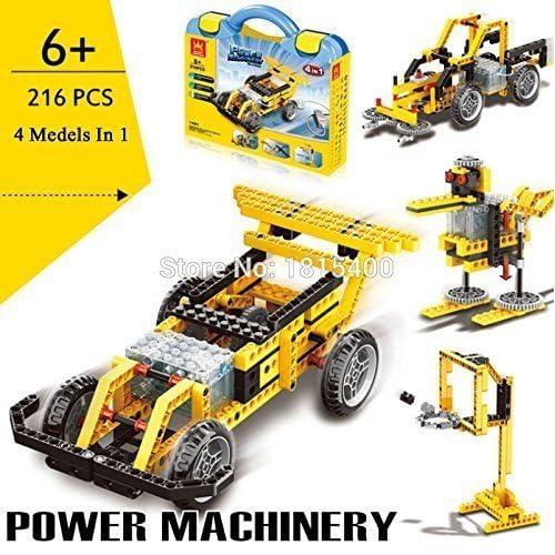 #1401 educativo set construcción (4 en 1) - motorizado mecanismos función de energía maquinaria #