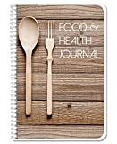 BookFactory Food and Health Journal/Food Diary/Fitness Journal Notebook, 186 Pages - 6'' x 9'' Durable Thick Translucent Cover, Wire-O Binding (JOU-186-69CW(FoodJournal))
