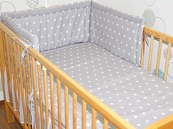Bettumrandung Kopfschutz Kantenschutz Nestchen 360° für das Babybett 70x140!