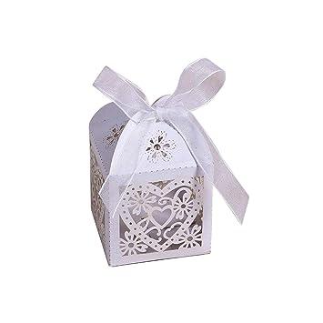 Amazon.com: 10 cajas de caramelos con lazo, para fiestas de ...