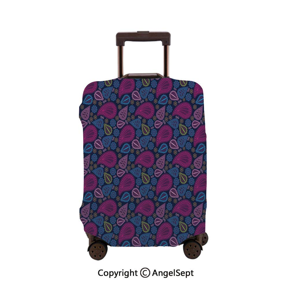 cm Aishanghuayi Suitcase for TSA Customs Lock Zipper Fashion Men and Women Boarding Consignment Suitcase Color : Silver, Size : 161026 inch Size 35 22 55 Black