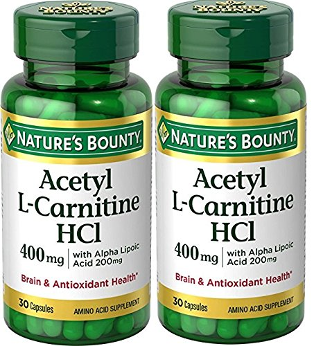 Nature's Bounty® L-Carnitine 400 mg & ALA 200 mg, 30 Capsules (Pack of 2) by Nature's Bounty
