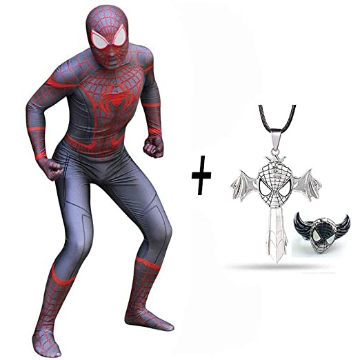 DSFGHE Spiderman Hometown Disfraz Superhéroe Spandex Zentai Set ...