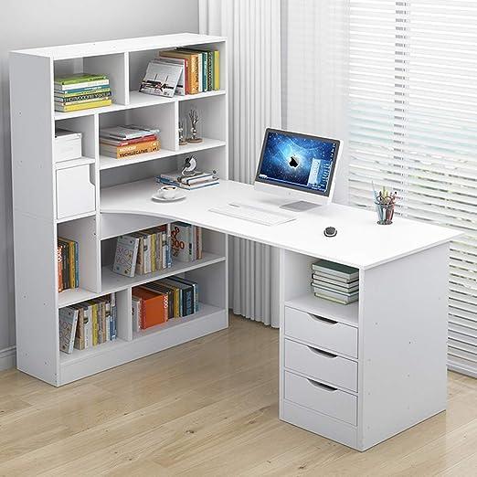 Ncloyn Moderno Madera Mesa De Oficina,Mesa De Ordenador con ...