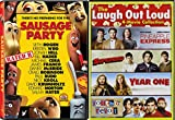 Jude Apatow Collection: Pineapple Express, SuperBad, Year One, Youth in Revolt, and Sausage Party 5-DVD Double Feature Bundle