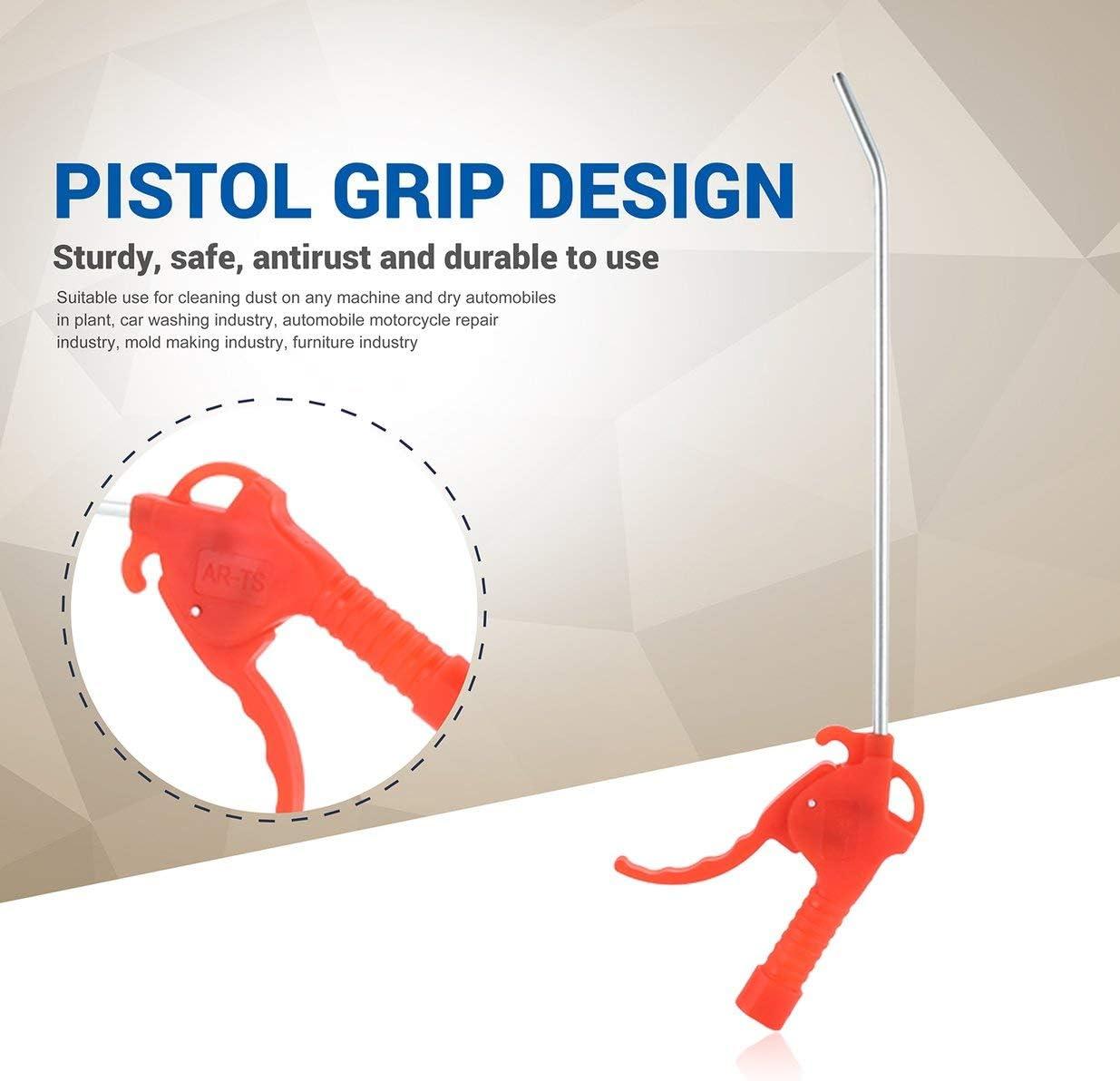 Sairis Compressore daria lungo multiuso Spolverino Pistola per soffiaggio in plastica Spolverino per pulizia manuale Utile-Rosso