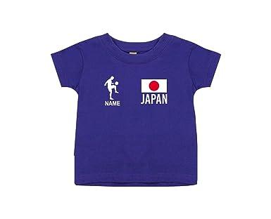 Shirtstown Kids Camiseta Camiseta de Fútbol Japón con Su Nombre Deseado  Estampado  Amazon.es  Ropa y accesorios 023212d96f7ea