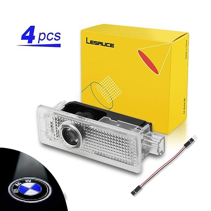 LESAUCE 4 piezas de luces de proyector para puerta de coche, kit ...