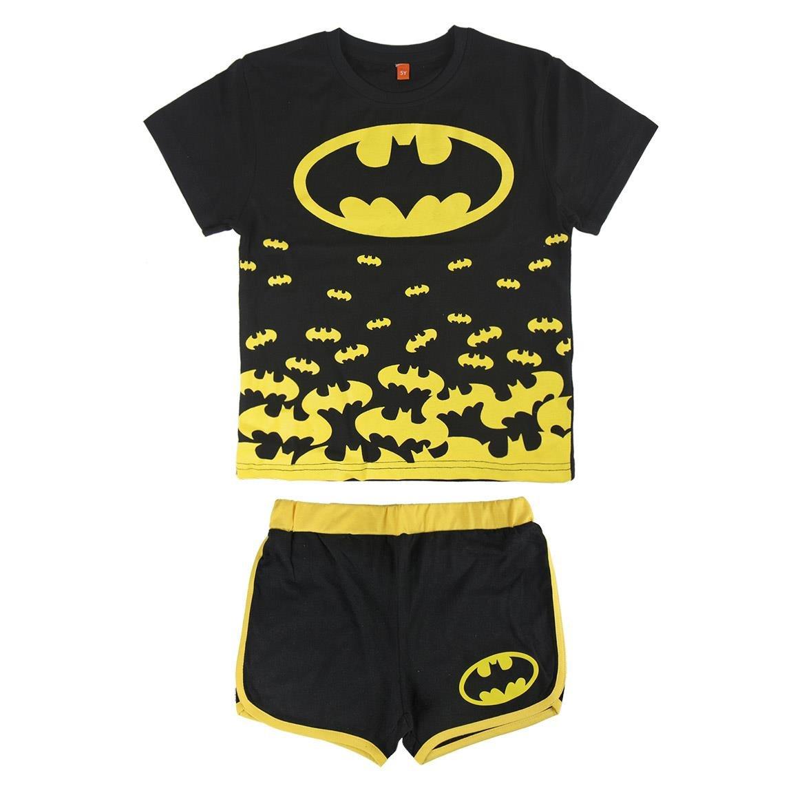 Batman - Conjunto Pijama Manga Corta 2 piezas 100% algodón (7 años): Amazon.es: Ropa y accesorios