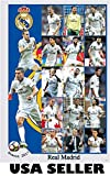 Real Madrid 2016 - 2017 vert 15-pic collage POSTER Cristiano Ronaldo Zinedine Zidane soccer RMFC Spanish Spain football team (sent FROM USA in PVC pipe)