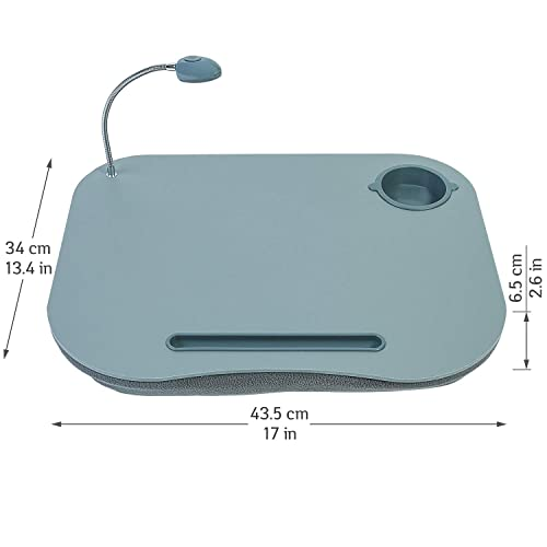 Tatkraft Patrik Cushioned Laptop Tray/Desk Cup Holder LED Light