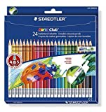 Staedtler 144 50NC24 Noris Club Erasable Colouring Pencils - Assorted Colours, Pack of 24