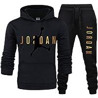 Jordan Tracksuit Set for Men,Bulls 23# Jordǎn Basketball Tracksuit Two Piece Sets Hoodies + Pants, Long Sleeve Sports…