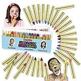 zebra face paint - Kangaroo's Ultimate Body Paint and Face Paint Kit; 32 Face Paint Crayons for Fun Face Painting, Kids Makeup