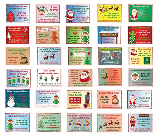 Lilly and the Bee Novelties 30 Unique Magical Merry Elf Notes to Accompany Your Elf - http://coolthings.us