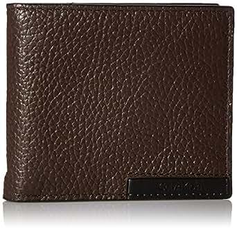 Calvin Klein Men's Calvin Klein Billfold With Money Clip and Key Fob Wallet, Dark Brown, One Size
