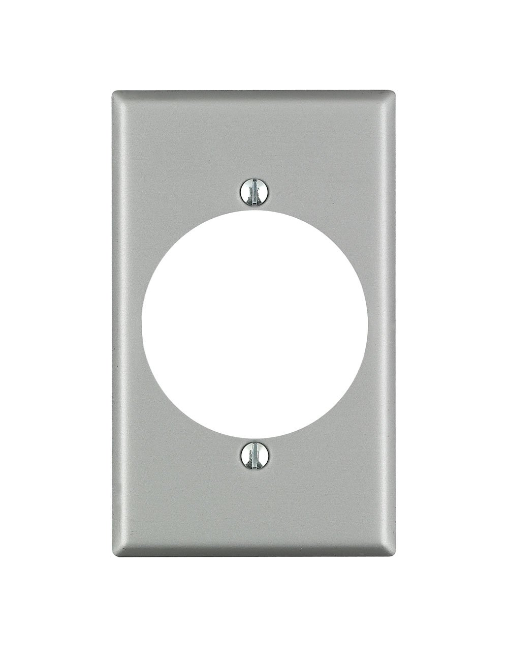 Leviton 4927 001-0-000 Power Receptacle Standard Size Wall Plate 1 Gang 4-1//2 in L X 2-3//4 in W 0.187 in T Standard Aluminum