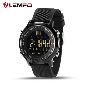 LEMFO EX18 podómetro Impermeable Reloj Inteligente cámara de Control Remoto Llamada telefónica Recordatorio de Mensaje para Android para teléfono iOS: ...