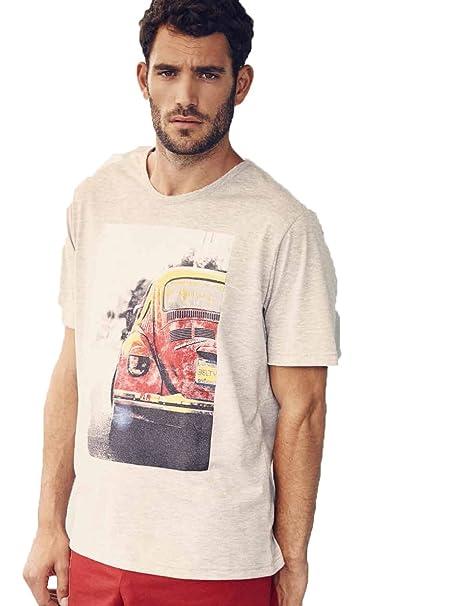 Pijama hombre de verano Belty con estampado coche tipo escarabajo. (XL)